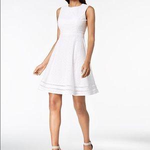 Calvin Klein White Eyelet Dress